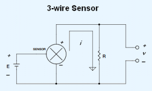 3-wire 4-20 mA current loop sensor