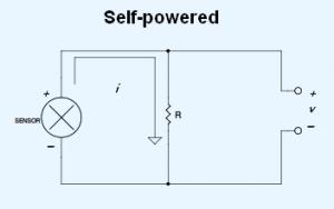 Self-powered 4-20 mA current loop sensor