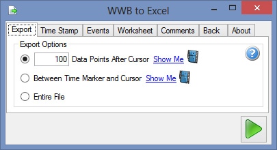 Export data to Excel from WWB
