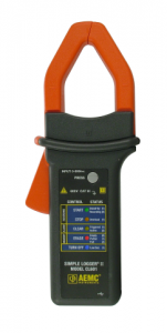 Model CL601 current data logger is a rare example of an instrument with a built-in current sensor.
