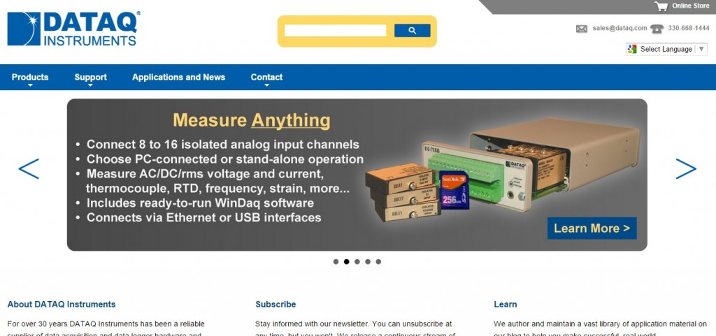 DATAQ Instruments, Inc. New Home Page