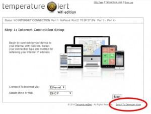 Temperature Alert server mode