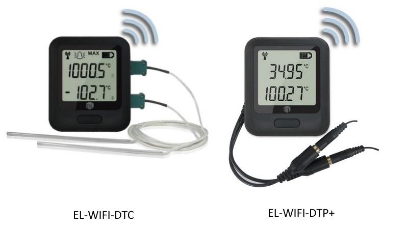 Multiple Channel Temperature Data Logger Voltage : Dualtempwifi