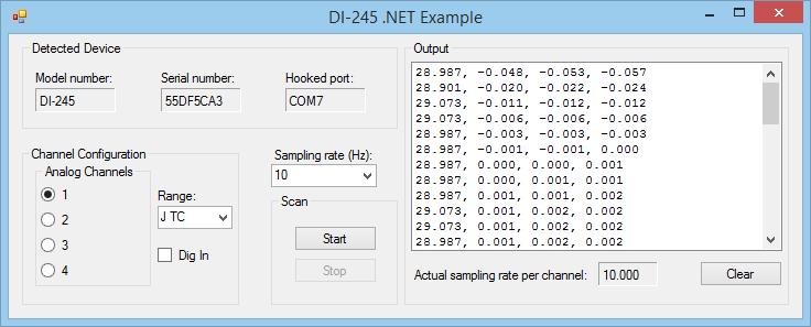 DI-245 .NET Example App