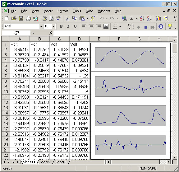 Data Acquisition in Microsoft Excel