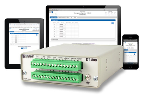 DI-808 Web-based Voltage and Thermocouple Data Logger