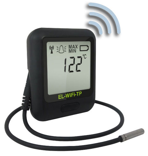 EL-WiFi-TP Wireless Data Logger measures Temperature