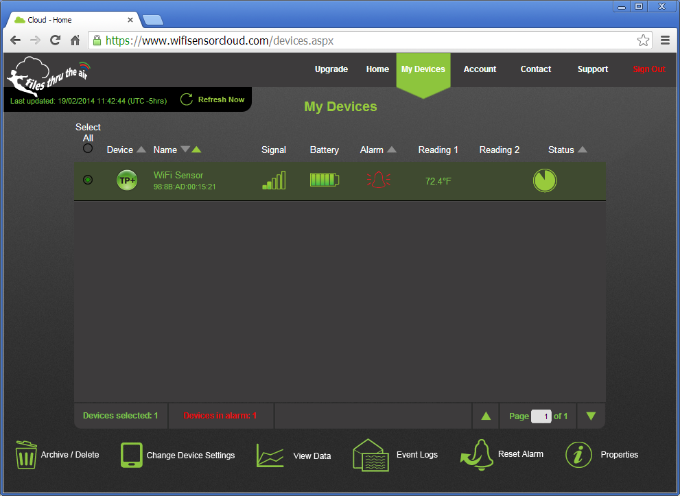 El Wifi Data Logger Device Management
