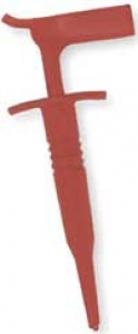 Red right angle insulated plunger hook clip