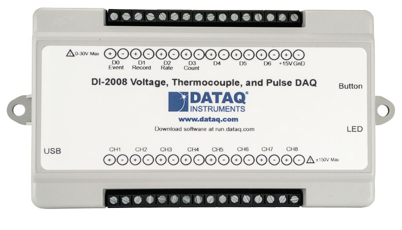 DI-2008 Voltage and Thermocouple DAQ
