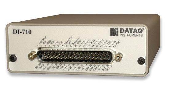 DI-710 Ethernet DAQ with 37-pin D sub