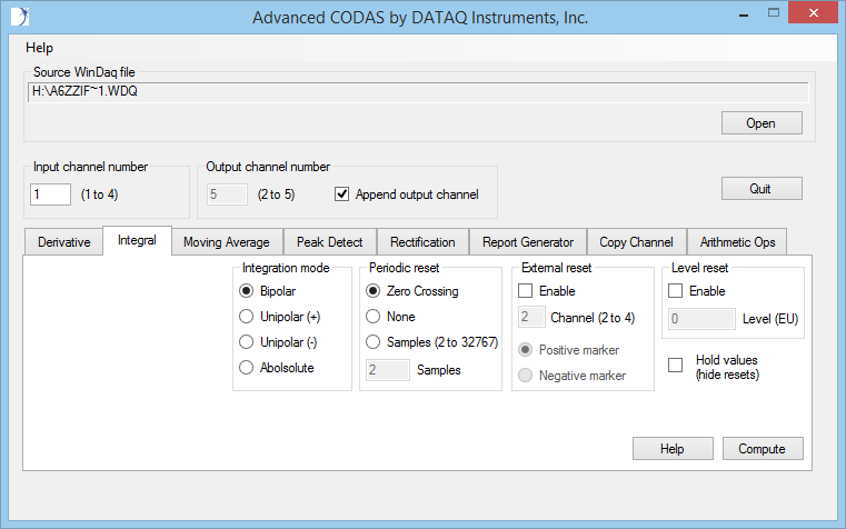 Advanced CODAS Data Acquisition Analysis Software