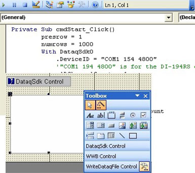ActiveX Controls for Data Acquisition