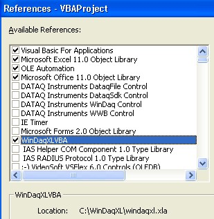 windaq xl with vba