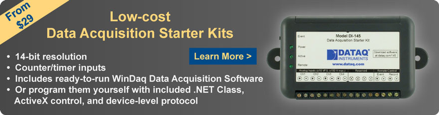 Low-cost Data Acquisition Starter Kits