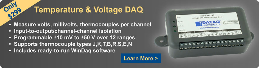 DI-245 Temperature and Voltage DAQ