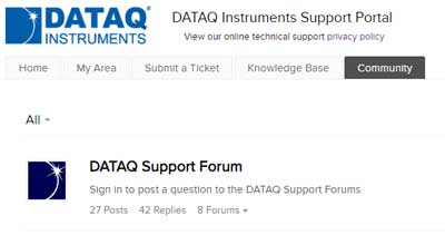 DATAQ Instruments Technical Support