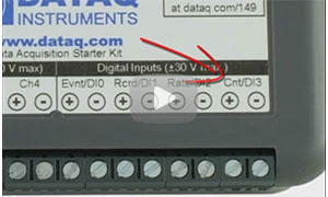 How to Use the DATAQ Instruments DI-2108 Counter Channel