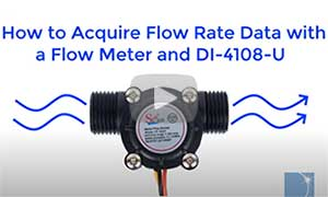 How to make flow measurements using a flow sensor and a Dataq Instruments Data Logger
