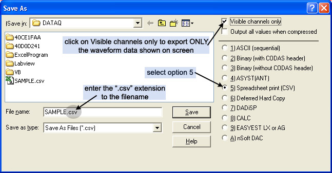 Exporting Data to Excel